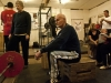 STIRLING, ON (05/26/11) Donald Buchanan, 80, rest between lifts at the Apollo Barbell Club. Photo by Ashliegh Gehl