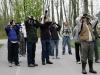 BRIGHTON ONT (22/05/2011) Birdwatchers search the trees for sightings. at the Warblers and Whimblers weekend. The weekend event was held at Presqu'ile Provincial Park to celebrate spring migration. The group was on guided birdwalk run by the park. Photo by Linda Horn