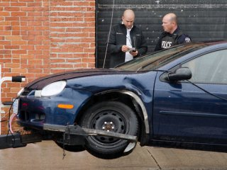 BELLEVILLE, Ont. (18/09/2012) - A three-car accident occurred at the intersection of Coleman Street and Bridge Street W Tuesday morning in Belleville.  No one was hurt.  Photo by Alicia Wynter