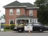 (CAMPBELLFORD 08/15/11) Police outside of Beryl Nicholas' house in Campbellford during a homicide investigation after Nicholas was found dead in her home on Saturday. Photo by Jennifer Bowman