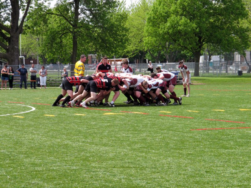 BELLEVILLE, ON (26/05/2011) COSSA Senior Rugby finals. Trojans and Spartans scum it up. Photo by Steph Crosier