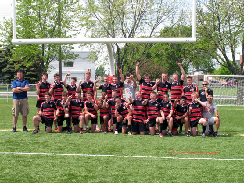 BELLEVILLE, ON (26/05/2011) COSSA Senior Rugby finals. Fenelon Falls are the COSSA Senior AAA Men's Rugby Champions. Photo by Steph Crosier
