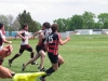 BELLEVILLE, ON (26/05/2011) COSSA Senior Rugby finals. Fenelon Falls attempts to run straight through a Moira player. Photo by Steph Crosier