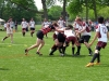 BELLEVILLE, ON (26/05/2011) COSSA Senior Rugby finals. Fenelon Falls forward taken down by three Moira players. Photo by Steph Crosier