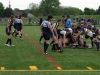 BELLEVILLE, ON (26/05/2011) COSSA Junior Rugby finals. Teams ruck over tackled Weldon player. Photo by Steph Crosier