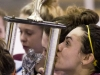 BELLEVILLE, ON (05/03/2012) — Hanna Bunton of the St. Theresa's Titans kisses the OCSSA trophy after defeating the Moira Trojans 1-0 in at the Yardmen Arena on March 3, 2012. Photo by Dan Pearce