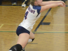 Lancer Katie Glass reaches to recieve a serve. Photo by Taylor Renkema.