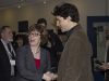 LOYALIST COLLEGE, Ont. (Feb. 14, 2013) - Justin Trudeau shakes hands with College President Maureen Piercy as he comes into Loyalist College as part of his national leadership campaign.