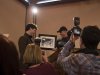 LOYALIST COLLEGE, Ont. (Feb. 14, 2013) -  Constable Jeff Ling presents Justin Trudeau with a photo of Cst. Ling's father saluting Pierre Elliot Trudeau as he holds Justin while he was a child.