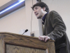 BELLEVILLE - (02/14/13) Justin Trudeau speaks to a packed alumni hall at Loyalist College. Photo by John Moodie