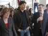BELLEVILLE - (02/14/13) Justin Trudeau tours the media wing with Loyalist College President Maureen Piercy and Belleville Mayor Neil Ellis.  Photo by John Moodie