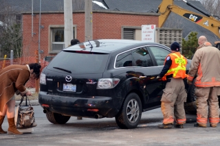 A two-vehicle collision happened Wednesday near the intersection of Palmer and Dundas Street. A woman invovled in the crash has been charged for failing to stop at a red light. Both vehicles suffered significant damage and had to be towed away. Only minor injuries were suffered.