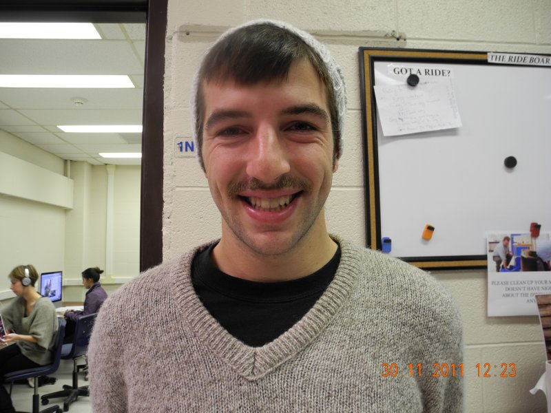 Andre Lodder a Photojournalism student. Grew his mustache for the cause is part of the Motojournalists group.