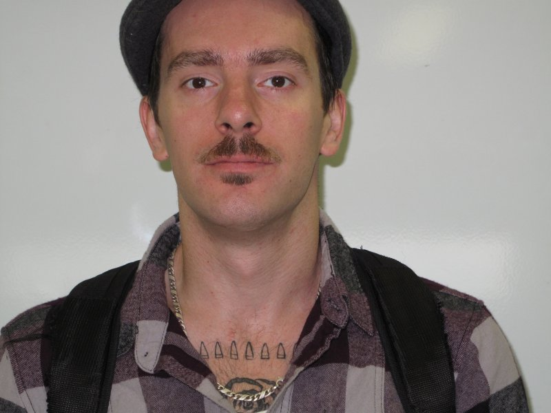 Geoff Kirkland is a Culinary student, grew his mustache because Movember is a good cause. November 30, 2011.