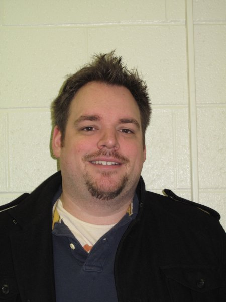 James Bowler, a Journalism: Online, Print and Broadcast student. Showing support for family members affectd by cancer with a Movember mustache.  November 30, 2011.
