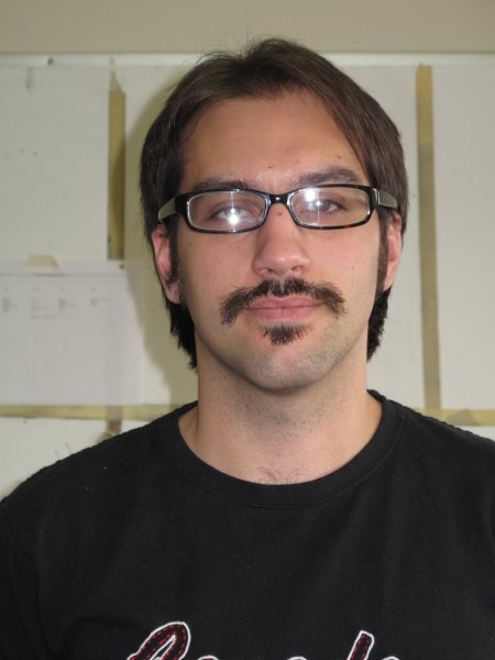 Jose De Barros a Journalism: Online, Print and Broadcast student. Showing his Movember mustache that he grew because he hinks it is a good cause. November 30, 2011.