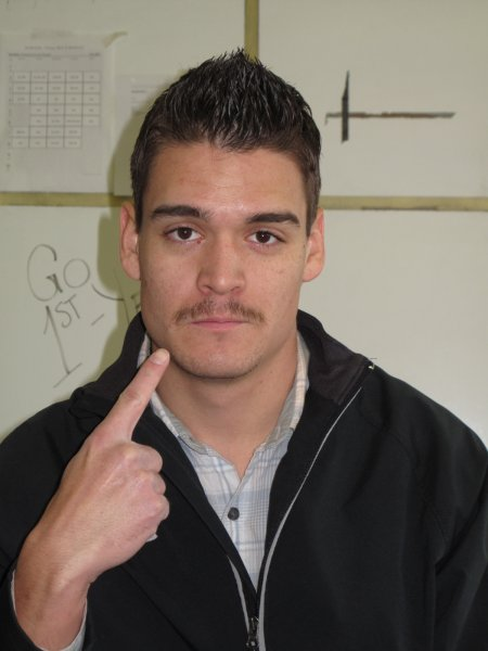 Mike Wobschall, a Journalism: Online, Print and Broadcast student. Grew a mustache for Movember because it is a good cause and has had family members with prostate cancer. November 30,2011.