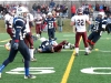 CARLETON PLACE (24/11/12) A Gananoque Trojan takes an opposing Trojan down as they make their way down to Moira's end in the fourth quarter. Photo by Steph Crosier