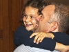 Newly elected Progressive Conservative MPP Todd Smith lifts his daughter Reagan, 8, for a celebratory hug aftering winning the election by 42.1 per cent. Photo by Ashliegh Gehl.