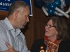 Defeated NDP candidate Sherry Hayes gave congratulations to newly elected Conservative MPP Todd Smith at the Belleville Club. Photo by Ashliegh Gehl.