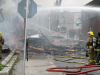 (TRENTON-11/05/2012) Rubble and debris lay on Murphy Street after the Sherwood Forest Inn collapsed during a Monday morning fire. The building went up in flames after 9 a.m. Downtown Trenton was blocked off police and smoke could be seen from Belleville. Photo by Marc Venema.