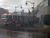 TRENTON, Ont. (05/11/2012)  Fire fighters battled the Sherwood Forest Inn's fire for over six hours Monday. The entire downtown core was evacuated. Fire cheif estimated between $600,000-$700,000 in damage. Photo by Steph Crosier