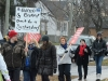 (BELLEVILLE) 12-12-12 - Protestors have a variety of signs expressing their opinions of government legislature Bill 115 during Wednesday's walkout in Belleville. Photo by Keenan Weaver