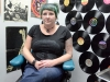 BELLEVILLE, Ont. (02/15/13) - Wild Ink's piercer Stacy in her booth waiting for an appointment.