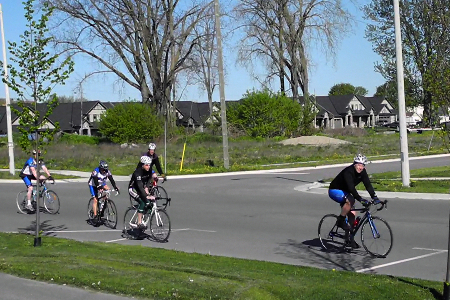 BELLEVILLE, ON (06/05/12) Members of the Chaingang Bicycle Club start out on their Sunday ride. Photo by Kristen Oelschlagel.