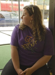 """Nicole Evans says every day is a fight but she won't give up. Besides working at he mom's restaurant Jeannine's Back Talk Cafe in Warkworth she spends at least 3 days a week a the Brain Injury Association Drop In Centre in downtown Belleville. """" I improve everyday,"""" she says."""