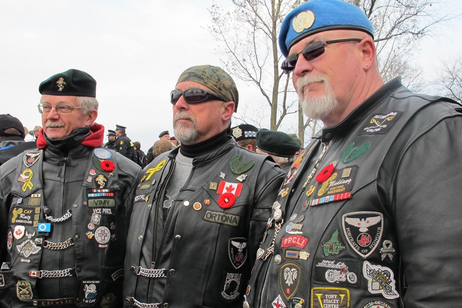 motorcycle club shows support for those lost in afghanistan qnetnews ca
