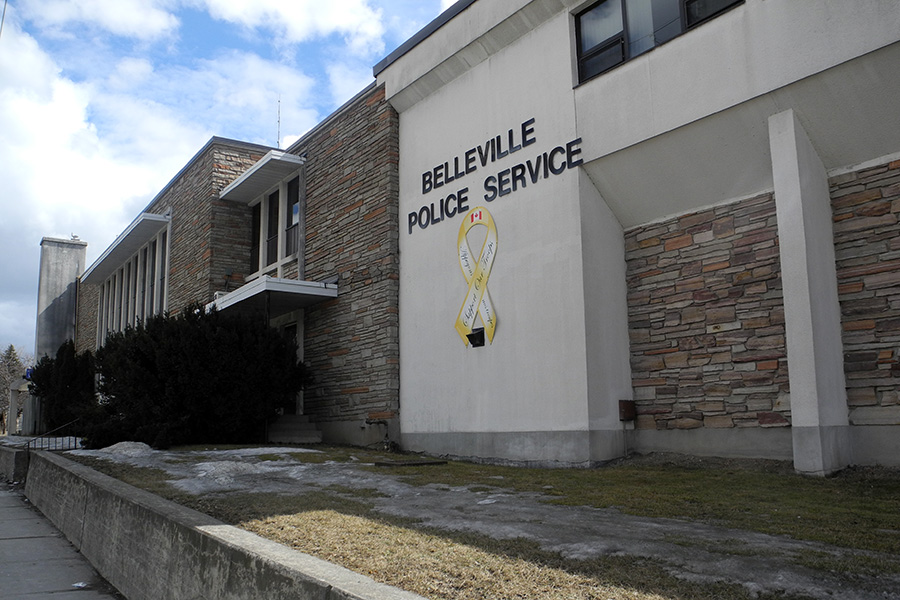 BELLEVILLE - 27/03/13 - The current police station at 93 Dundas Street East was constructed in the 1960's, and renovated in 1985. Photo by Tyson Leonard