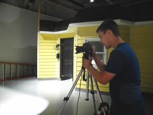 Chris  Vandenberg is preparing for the Television and New Media short film auditions that took place on Tuesday September 24 at Loyalist College.