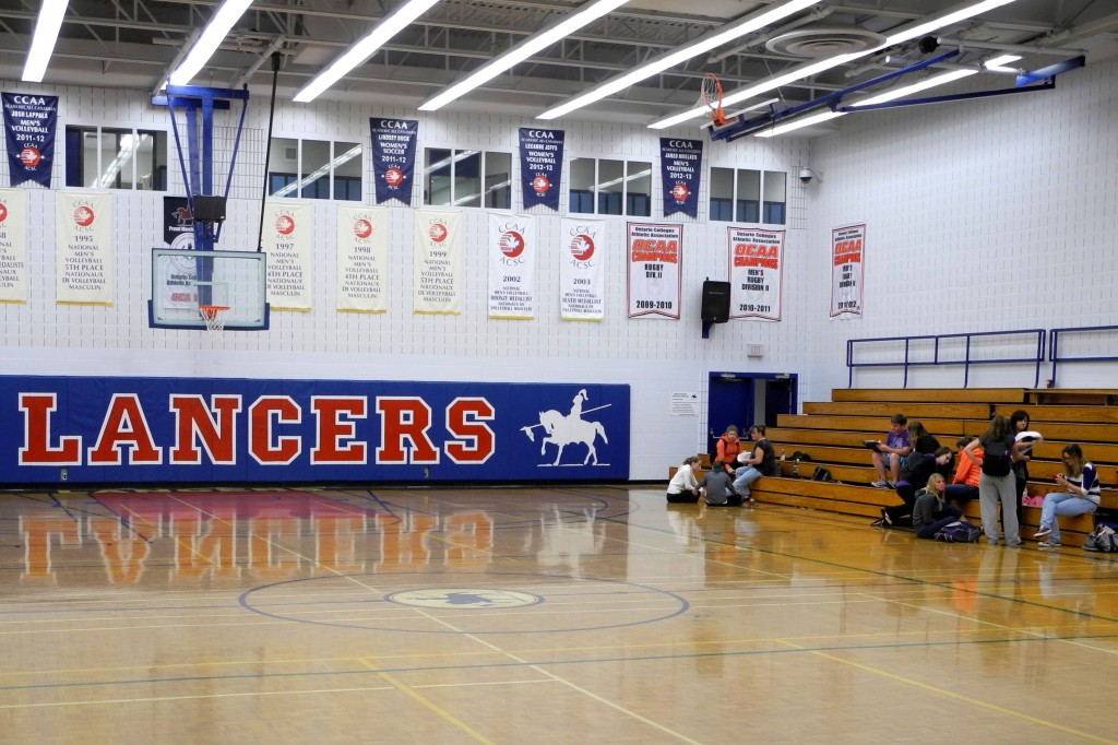 Big crowds are a rarity at Lancers games, and the players find it hard to play to empty stands. Photo by Shelden Rogers