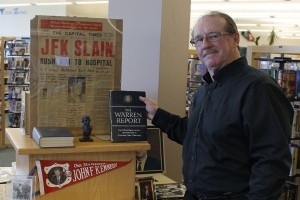 Duncan Armstrong setup a display of his research of the assassination of former U.S. President John F. Kennedy. Armstrong held a discussion and display at Quinte West Public Library on Nov. 18.