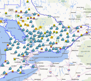 A screen shot from the Hydro One storm center website shows just how many outages there are.