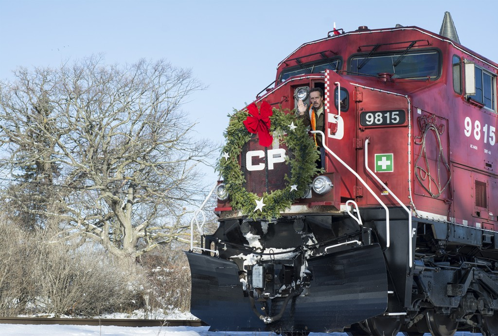 BELLEVILLE, Ont. (28/11/13)-The CP Rail Train is traveling all over Canada making stops in more than 150 cities, towns and villages featuring musical performances and promoting donations for local food banks. Photo by Carla Antonio.