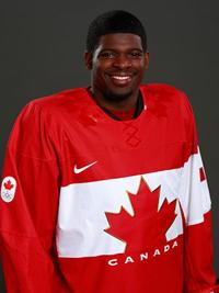 P.K. Subban in his Team Canada jersey just after being invited to play for the country at the Olympic Games.