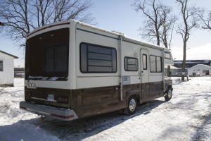 QUINTE WEST – Protesters at the Meyers farm are using an RV lent by a supporter to sleep in overnight and keep warm during the day. Photo by Jack Carver
