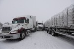 (File photo) Tractor trailers were among the vehicles that were part of a pileup on Hwy. 401 westbound between Glen Miller Road and Wallbridge-Loyalist Road in Quinte West Wednesday afternoon. Other multi-vehicle accidents have occurred eastbound near Brighton and westbound between Deseronto and Napanee. Photo by Justin Chin