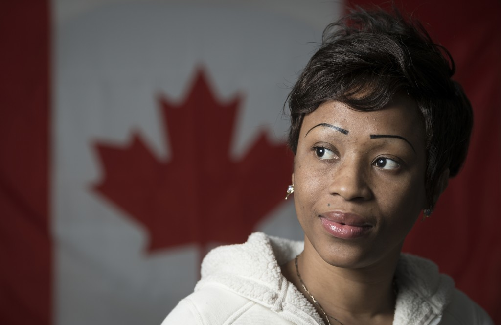 BELLEVILLE — Djeneba Ballo, 27,  immigrated to Canada from Ivory Coast 2 months ago to reunite with her husband. JUSTIN CHIN