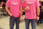Loyalist College police foundations students Shayne Ray and Christopher Howitt sport pink shirts, saying bullying needs to end.