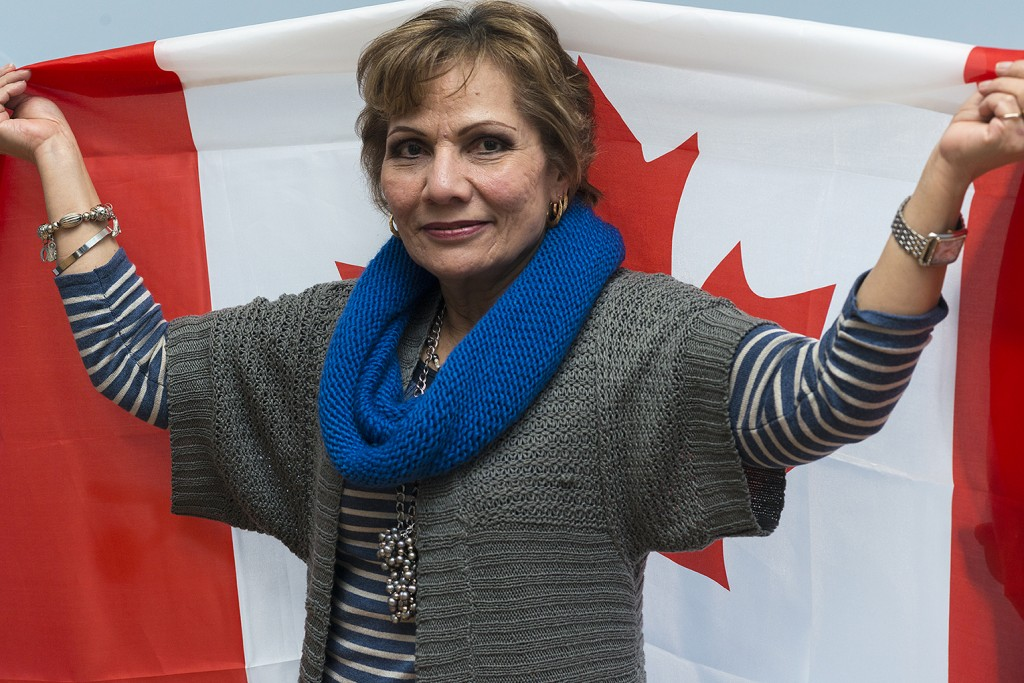 """BELLEVILLE - Alicia Vives, 64, from El Salvador, has been in Canada for a year and three months and is living with her daughter in Belleville. She also has a son living in Foxboro with his sponsor. Vives says security is the most important thing to her. """"My country is very dangerous. Canada is quiet and more comfortable for me,"""" she says. Photo by Sarah Taylor"""