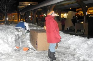 BELLEVILLE– Participants at this year's Sleep Out! So Others Can Sleep In event hosted by the Canadian Mental Health Association. The event raises awareness about the issue of local homelessness. Supporters slept in cardboard boxes overnight for 12 hours. Photo by Suzanne Coolen