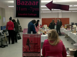 Fundraising bazaar hosted by the post-graduate public-relations students at Loyalist College in support of a local non-profit organization Girls Inc. Photo by Alisa Howlett