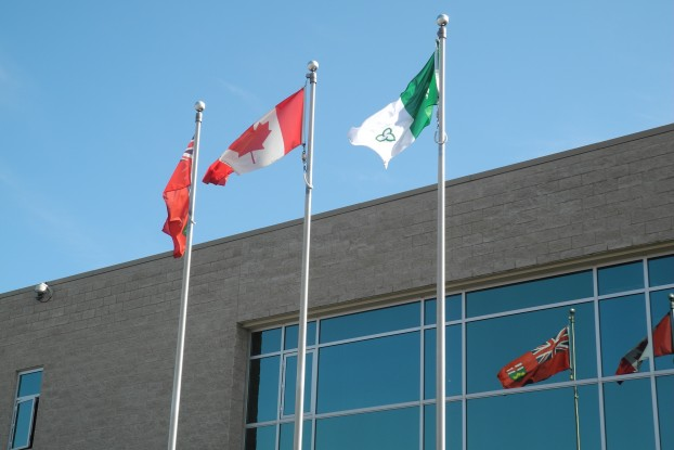 Quinte West City Hall Flags