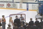 The crowd watches at 33-year-old Kelly Sage and husband 26-year-old Andrew  McCracken tie the knot on the Sterling ice.