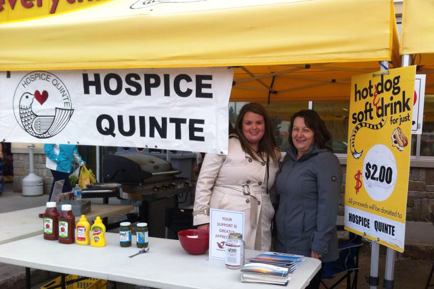 Hospice Quinte coordinators prepared for Saturday lunch rush.