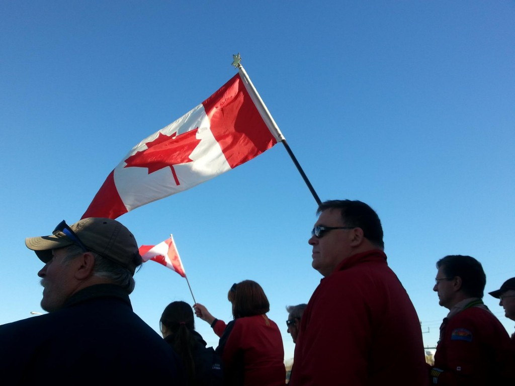 Citizens showing their pride for Canada and paying respect to Cpl. Cirillo Photo by Taylor Broderick