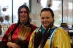 Angel Kelsey and Donna Lynn Mitchell were among the more than 500 visitors who attended the 18th Annual Festival of Native Arts at Loyalist College in 2013.